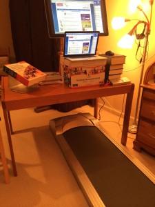 treadmill and desk